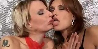 valentine rush lesbian scene with strap on dildo