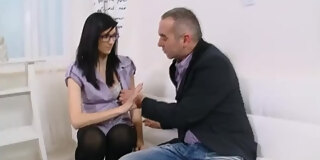 alla wiggles her petite hips as she sits on her teacher s cock