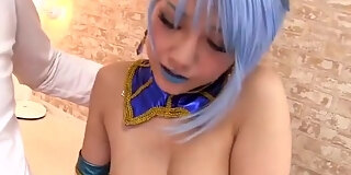 lovely buxomy japanese rei mizuna featuring hot cosplay sex video in public place