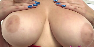busty babe tit fucking and throating