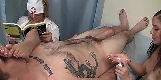 nurse handjob feet in the face
